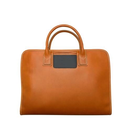 Leather laptop bag Navy