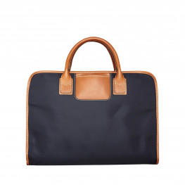 Waxed canvas laptop bag Navy