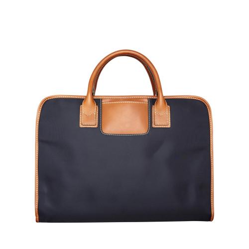 Waxed canvas laptop bag Navy