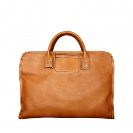Soft leather laptop bag