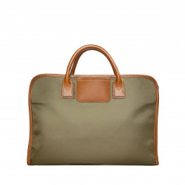 Waxed canvas laptop bag Olive