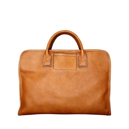 Soft leather laptop bag